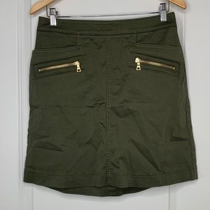 NWT Loft Olive and Gold Skirt